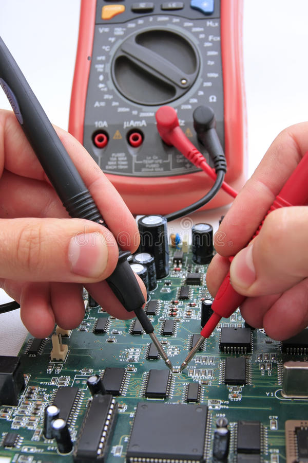 PCB testing stock photography