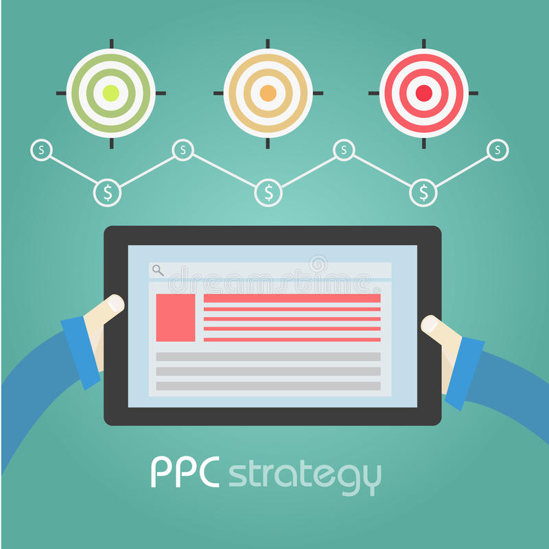 Pcc strategy targets graph royalty free stock photography