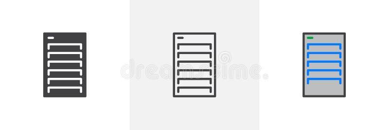 PCfallsymbol stock illustrationer