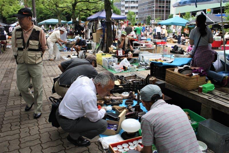 Pchli Targ w Japonia fotografia royalty free