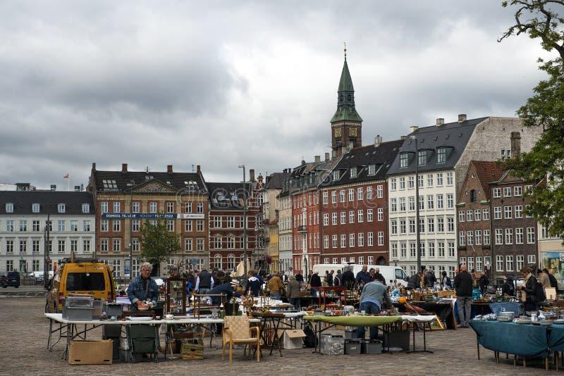 Pchli targ w Kopenhaga fotografia stock