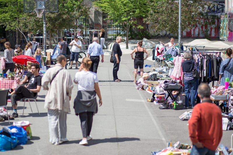 Pchli targ w Kopenhaga obrazy stock