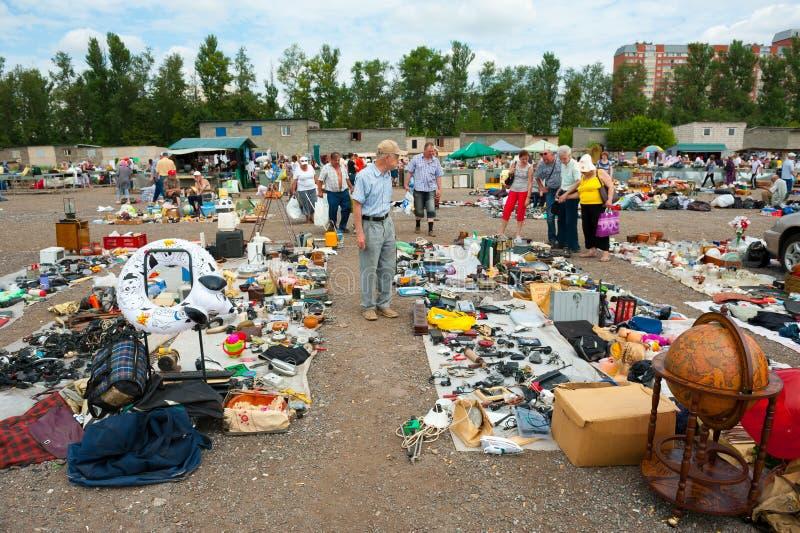 Pchli targ w Moskwa zdjęcia stock