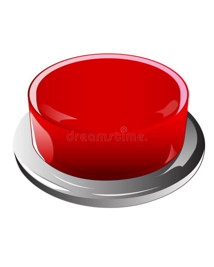 Pchnięcie czerwony Guzik ilustracja wektor