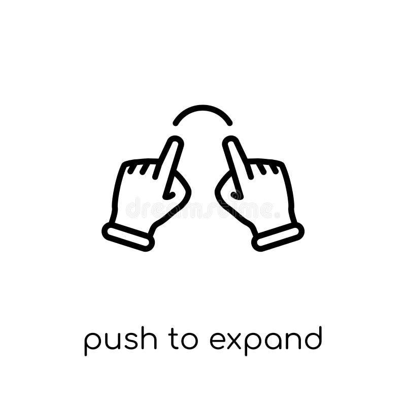 Pchnięcie rozszerzać ikonę Modny nowożytny płaski liniowy wektorowy pchnięcie ex royalty ilustracja