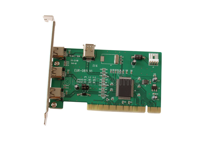 Download PCI Card stock image. Image of metal, white, flow, electrode - 450115