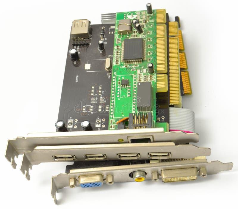 PCI i AGP karty dla PECETA od przodu zdjęcia royalty free
