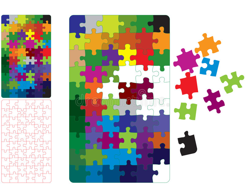 Pcolor puzzle vector illustration