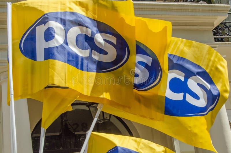 PCS Union Flags Editorial Stock Photo