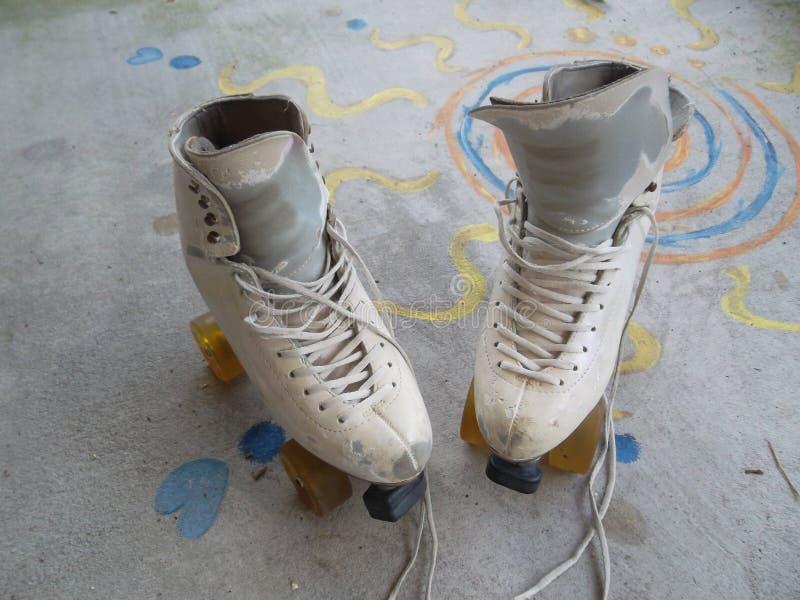 Pcteres de ruedas Art Skates Dance Skates fotos de archivo