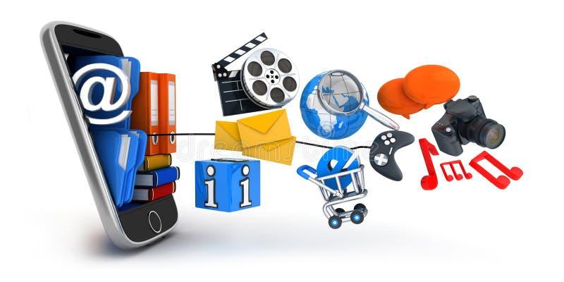 PDA和多媒体 向量例证