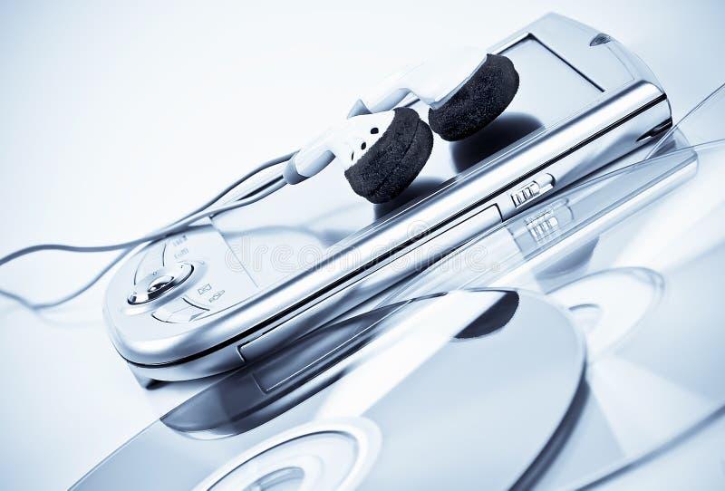 pda наушников cds стоковая фотография rf