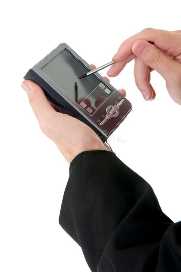 pda удерживания руки стоковая фотография rf