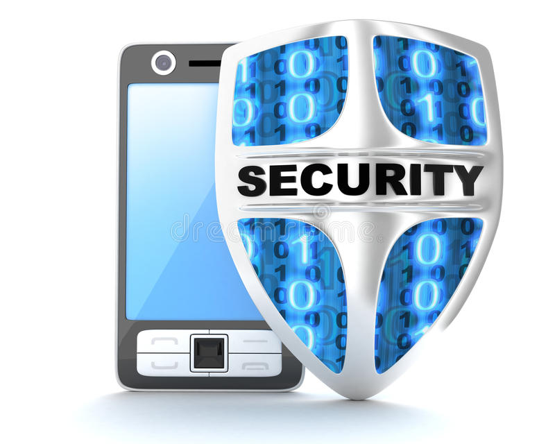 PDA abd shield security royalty free illustration