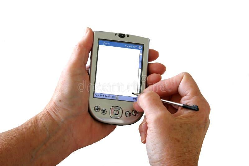 PDA blanc photo stock