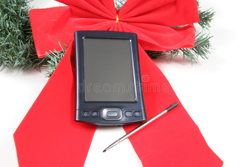 PDA for Christmas royalty free stock photography
