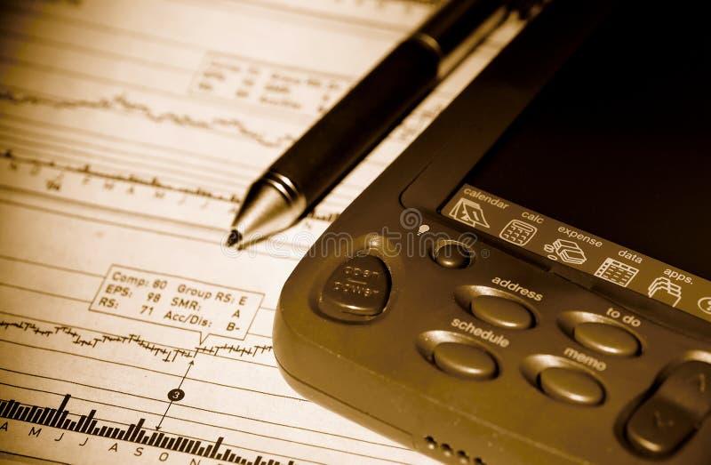 PDA e carta conservada em estoque fotografia de stock