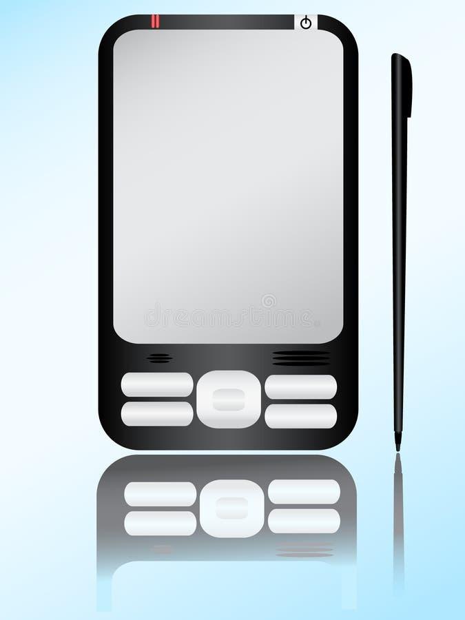 PDA e estilete ilustração stock