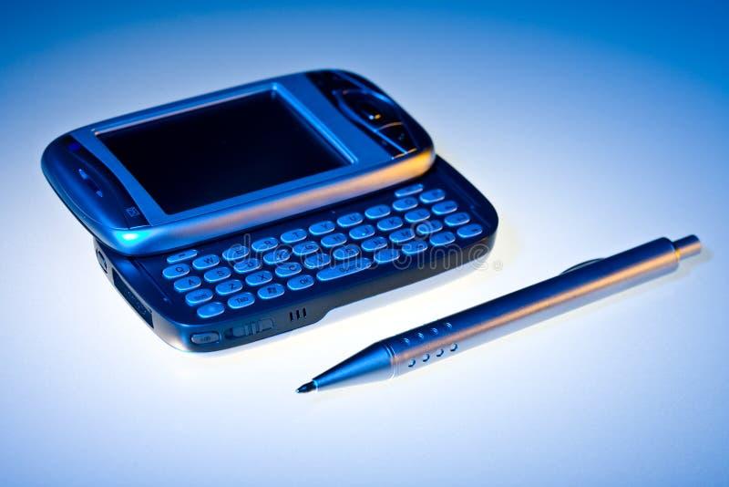 PDA e penna fotografie stock