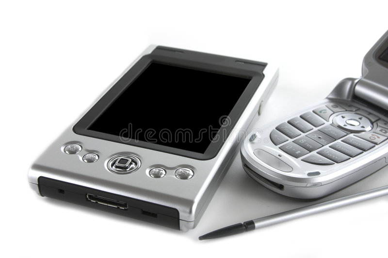 PDA et téléphone portable photo libre de droits
