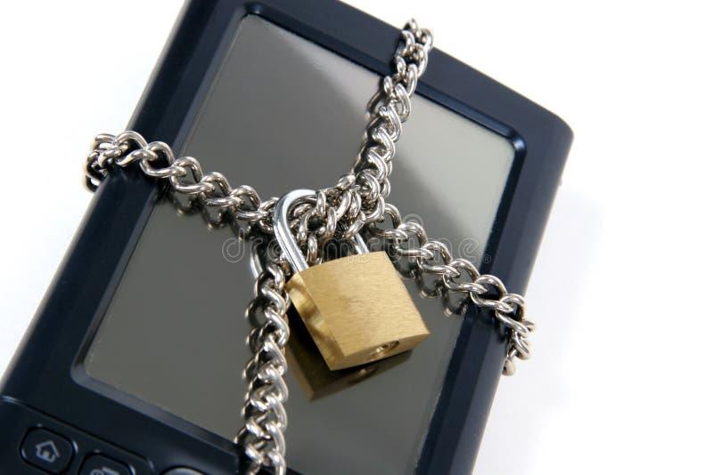 PDA ganz oben gesperrt stockbilder
