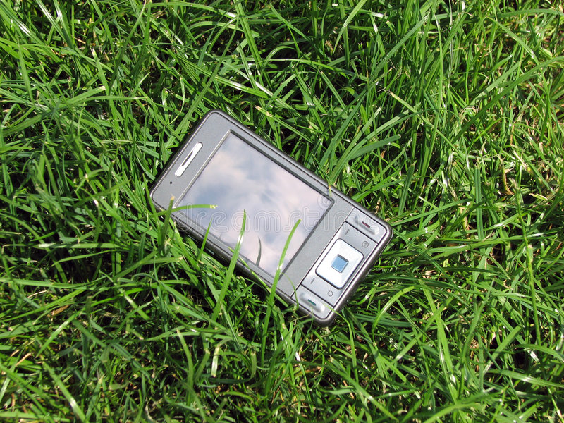 Download Pda in the grass stock photo. Image of tech, telephone - 5456196