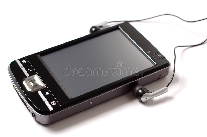 Download PDA with headphones stock image. Image of held, personal - 8306289