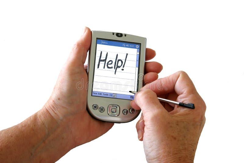 PDA Hilfe! stockbild