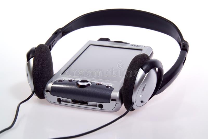 PDA integrado, telefone de pilha e jogador MP3 imagem de stock