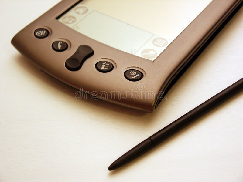 PDA noir et blanc image libre de droits