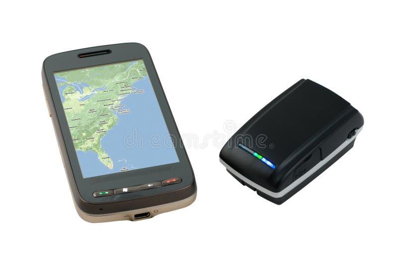 PDA And Receiver GPS Bluetooth stock photos