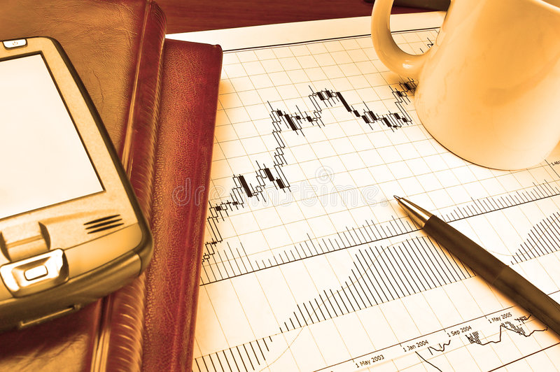 Download PDA on stock chart stock image. Image of chart, banking - 3929567