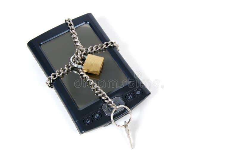 PDA travado acima para a segurança fotos de stock