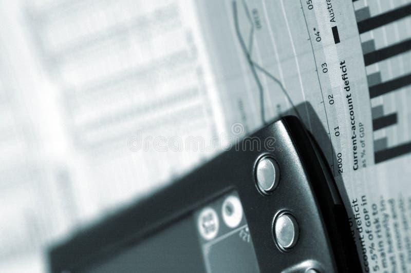 PDA und Finanzdaten lizenzfreie stockfotos