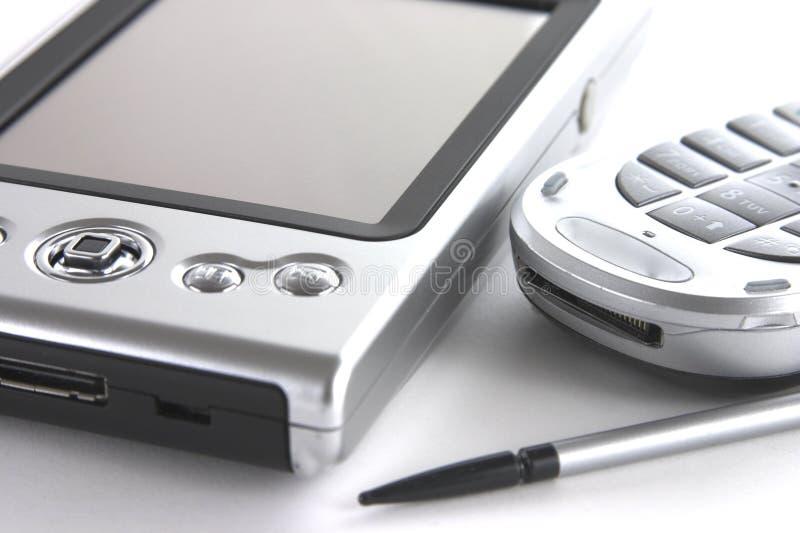 PDA und Handy lizenzfreies stockbild