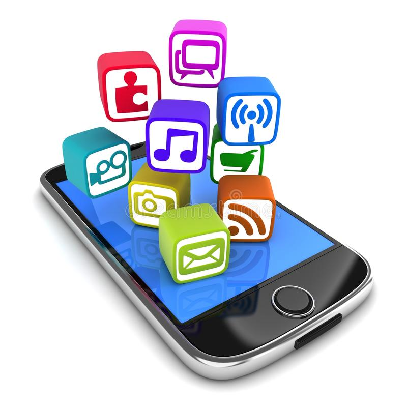 PDA und Multimedia lizenzfreie abbildung