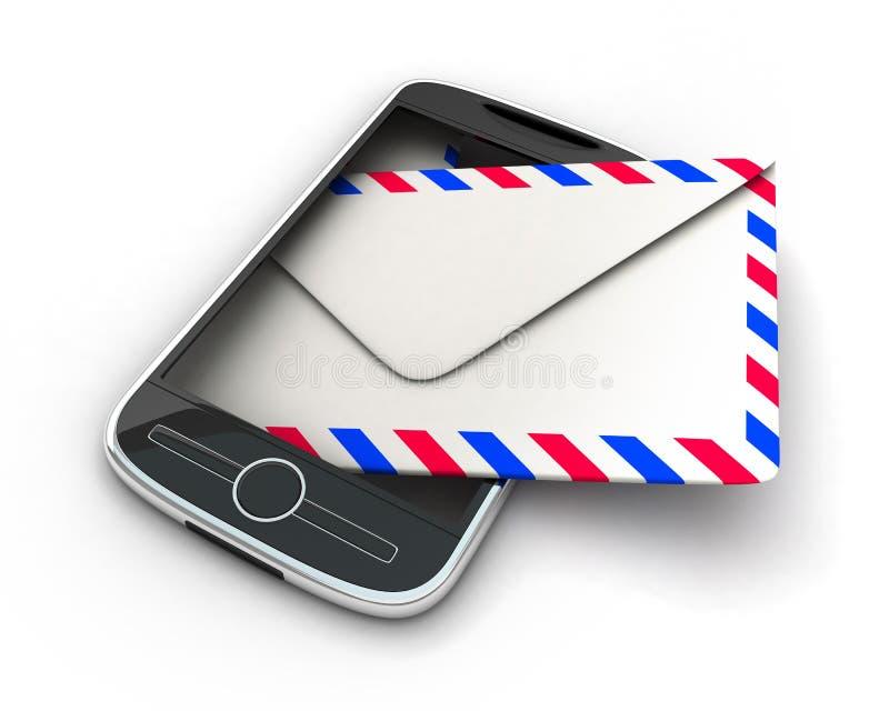 PDA und Post stock abbildung