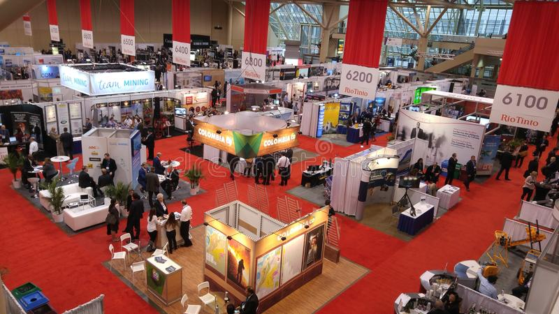 2016 PDAC International Convention and Trade Show at Toronto's Metro Convention Centr. PDAC's (Prospectors and Developers Association of Canada) annual royalty free stock image