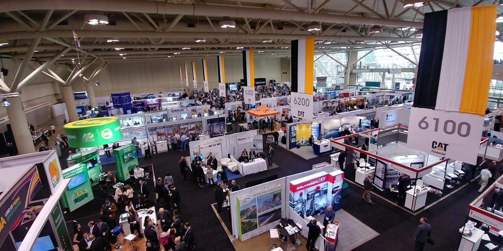 2018 PDAC International Convention and Trade Show in Toronto. PDAC`s Prospectors and Developers Association of Canada annual convention and trade show is the royalty free stock image