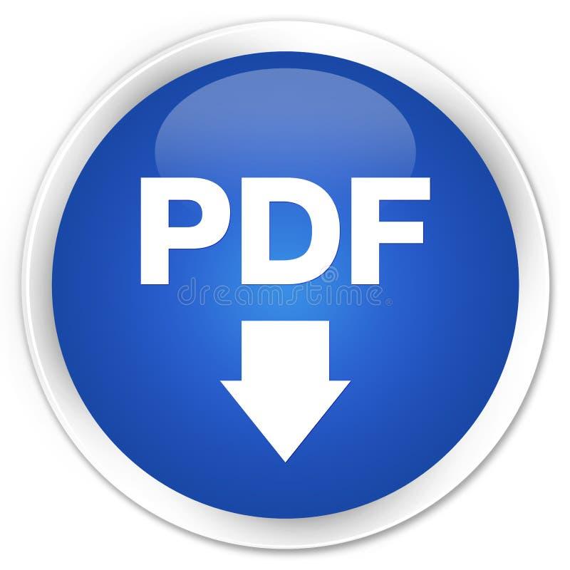 PDF下载象优质蓝色圆的按钮 库存例证