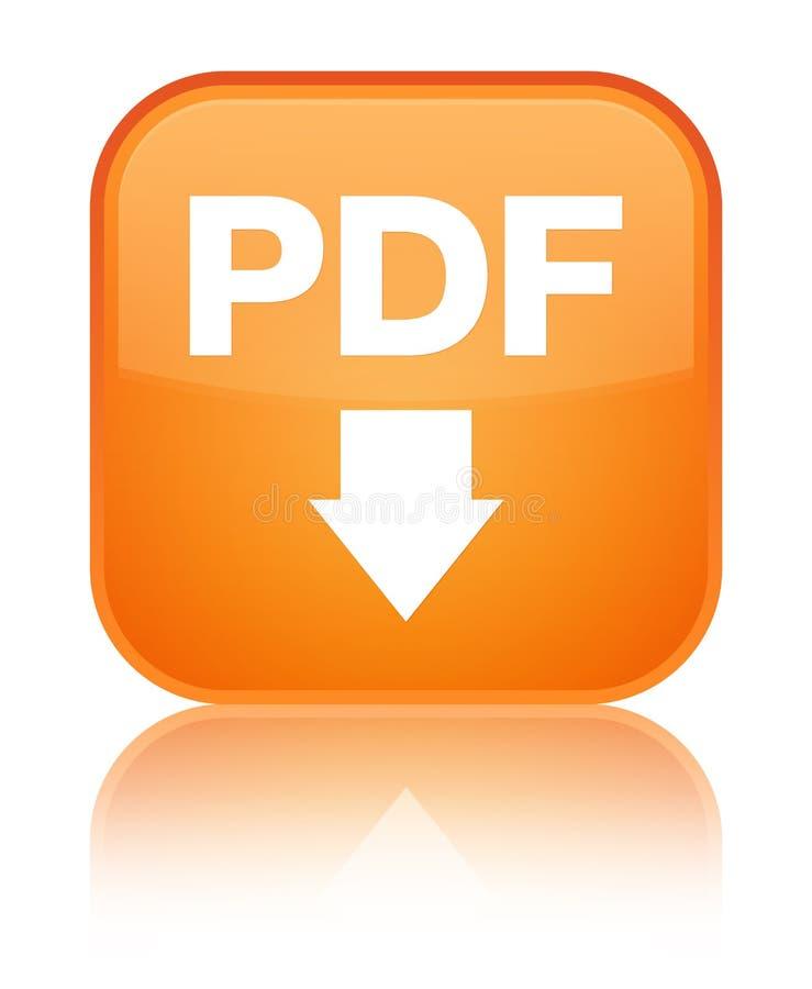 PDF下载象特别橙色方形的按钮 皇族释放例证