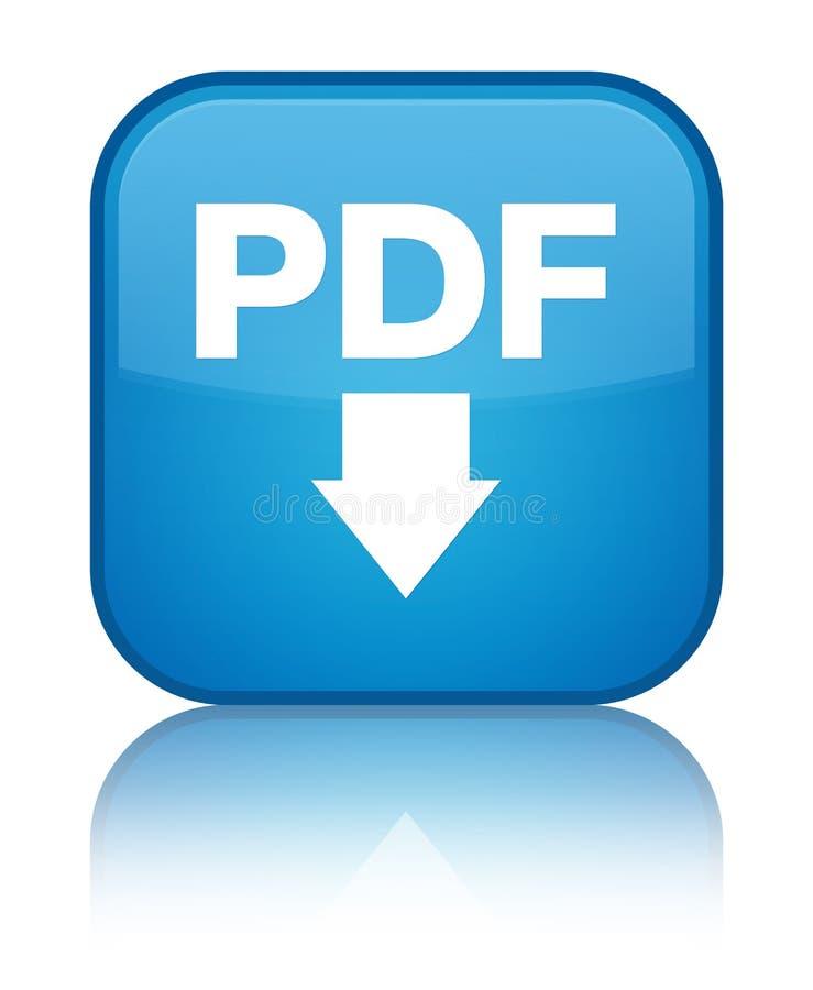 PDF下载象特别深蓝蓝色方形的按钮 皇族释放例证