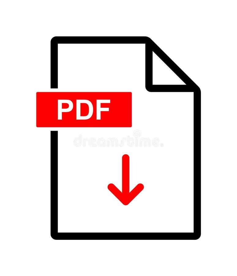 PDF文件下载图标 向量例证
