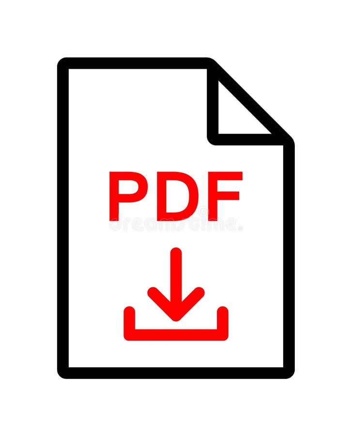 PDF文件下载图标 库存例证