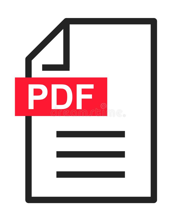 PDF文件下载现代象 文件文本,标志网格式信息 库存例证