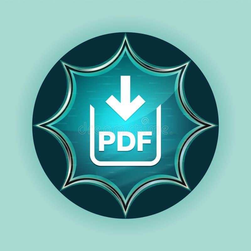 PDF文件下载象不可思议的玻璃状镶有钻石的旭日形首饰的蓝色按钮天蓝色背景 向量例证