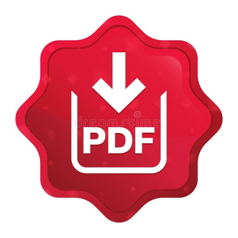 PDF文件下载象有薄雾的玫瑰红的starburst贴纸按钮 皇族释放例证