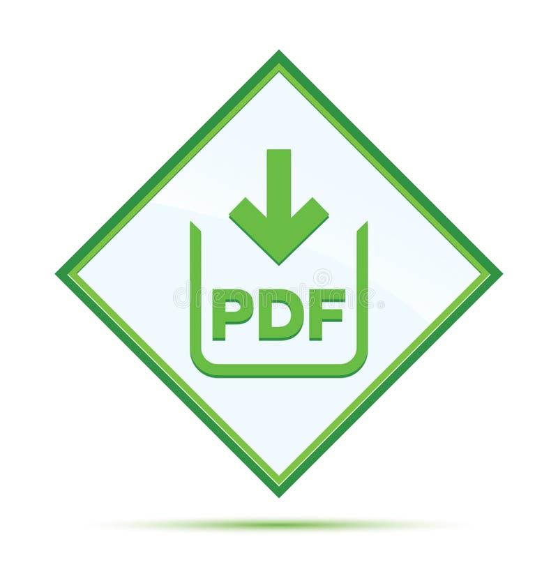 PDF文件下载象现代抽象绿色金刚石按钮 皇族释放例证