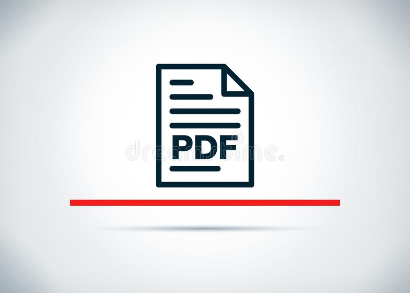 PDF文件页象摘要平的背景设计例证 库存例证