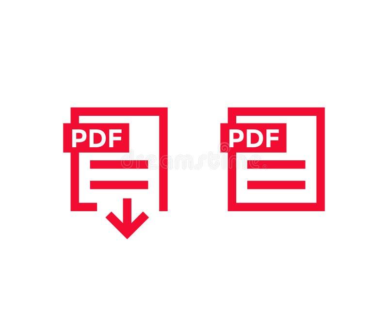 PDF文件,下载pdf文件象 库存例证